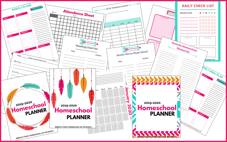 picture regarding Printable Homeschool Planners referred to as 2019/2020 Printable Homeschool Planner - Intelligent Mother at Dwelling