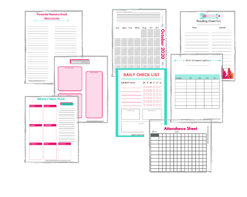 graphic about Free Printable Homeschool Planner identify Certainly Breathtaking Printable 2019/2020 Homeschool Planner