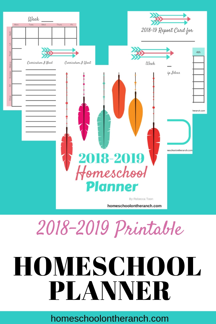 Free Printable Homeschool Planner 2018 2019 Free Homeschool Deals C