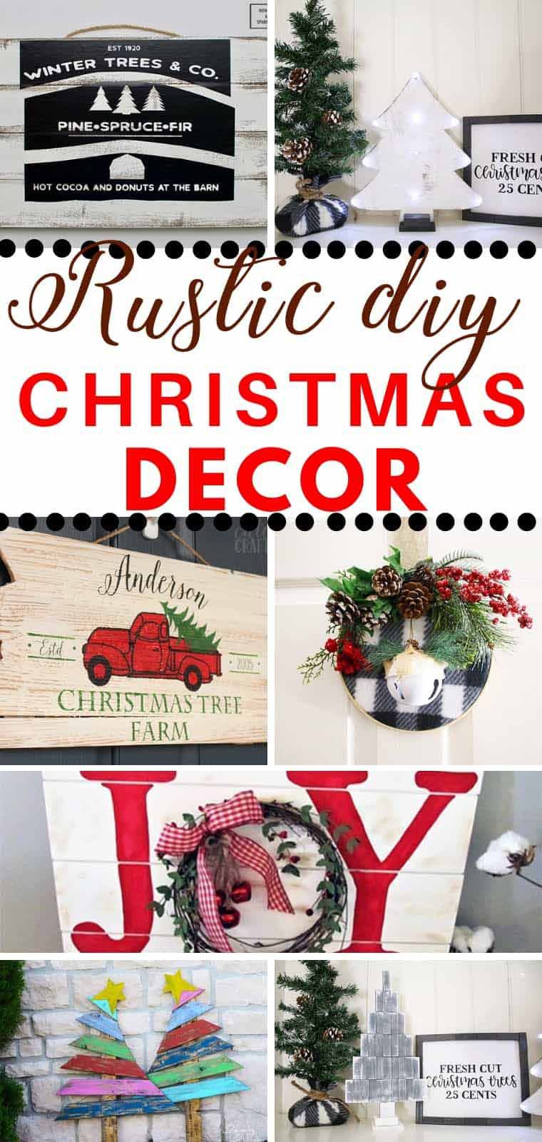 17 Rustic Christmas Decoration Ideas For Indoors And Outdoors To Give Your  Home A Cozy Farmhouse